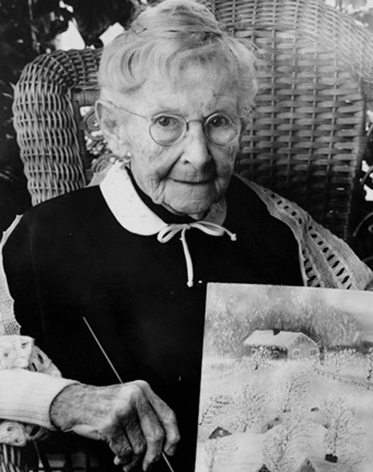 Grandma Moses (Anna Mary Robertson Moses) - Photograph by Bert Stern