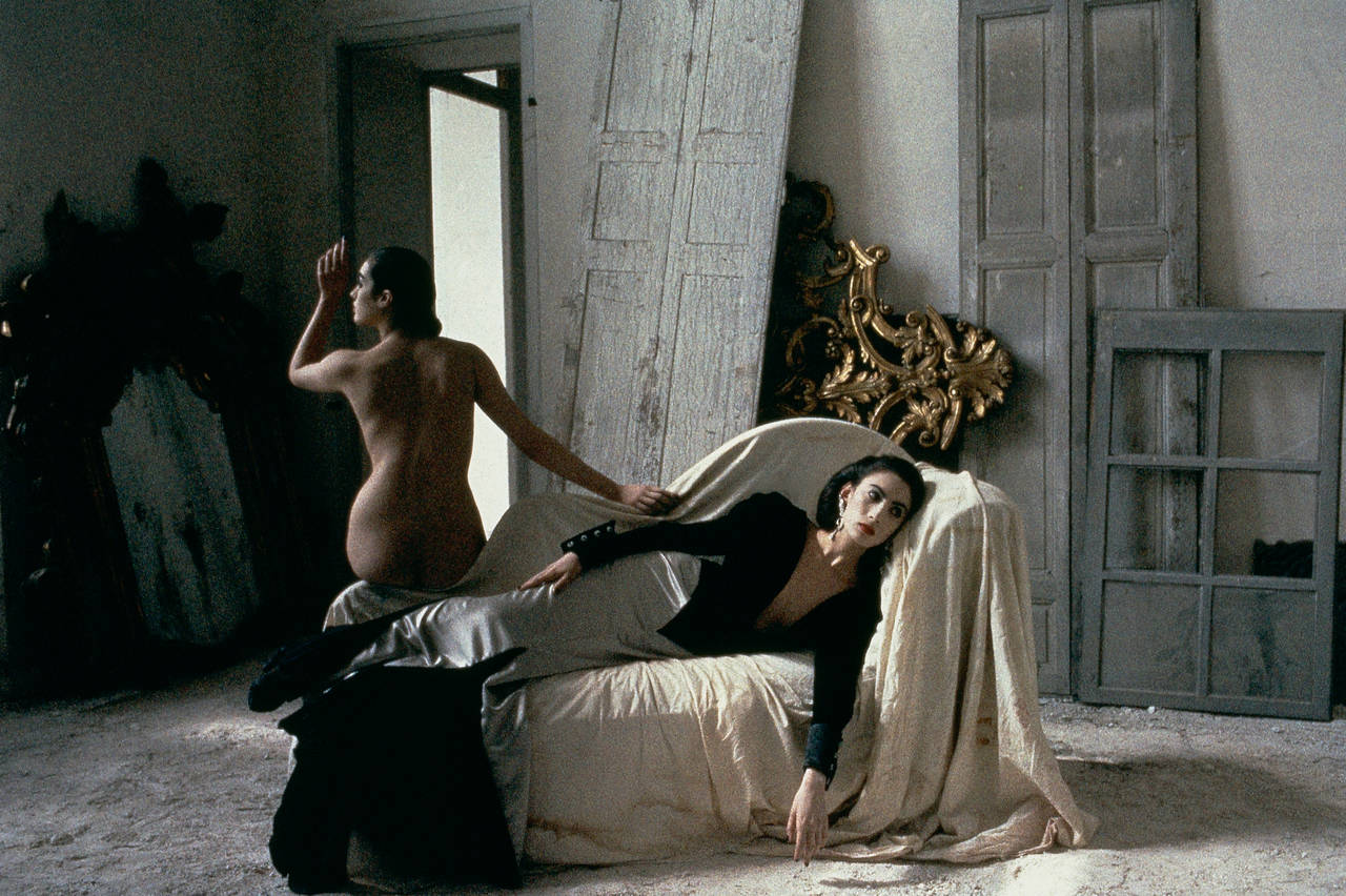 Anh and Rozima in Emanuel Ungaro, Chateau Raray, France, VOGUE, 1986 - Photograph by Deborah Turbeville