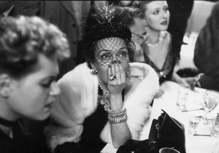 Gloria Swanson awaiting the results of the Academy Award, New York