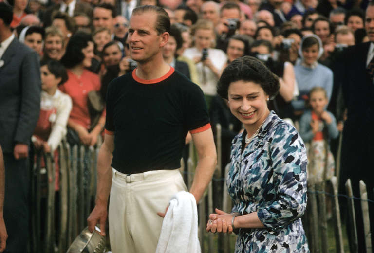Slim Aarons Portrait Photograph - Prince Philip Receives Windsor Cup at Ascot Polo Tournament