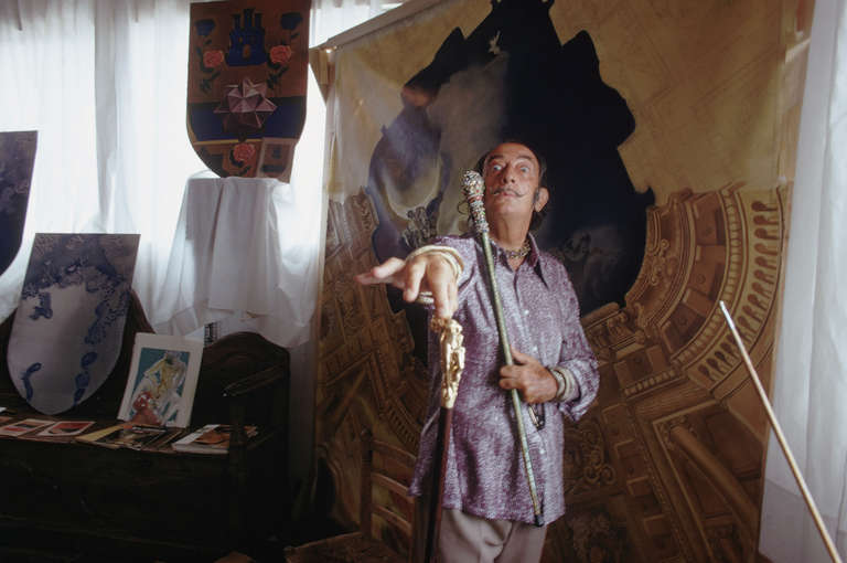 Slim Aarons Portrait Photograph - Salvador Dali, Port Ligat, Costa Brava