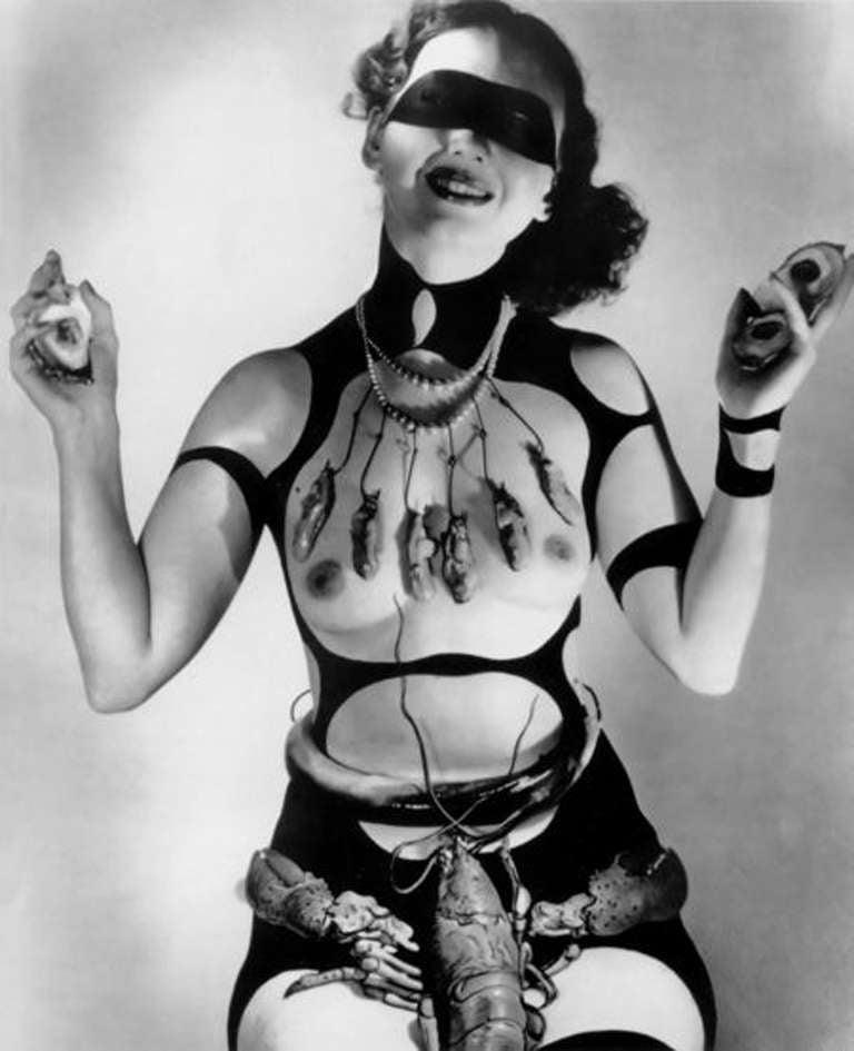 "Horst P. Horst Black and White Photograph - Costume Design by Salvador Dali for ""Dream of Venus,"""