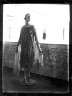 Mannequin on Balcony, circa 1930