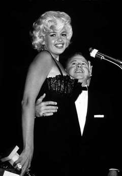 Jayne Mansfield with Mickey Rooney at the Golden Globes, 1958