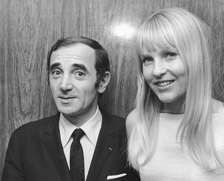Ron galella charles aznavour and ulla thorsell for Americana hotel nyc
