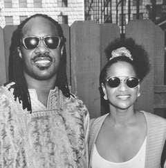 Stevie Wonder and Debbie Allen, Hyatt Regency Hotel, Los Angeles