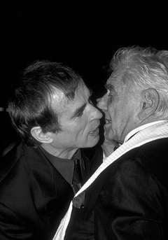 Leonard Bernstein greets Rudolph Nureyev, New York