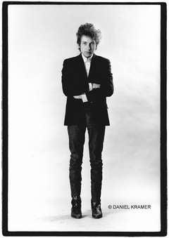 Bob Dylan Standing in Studio, New York