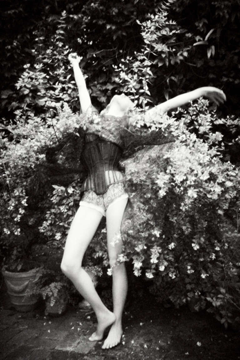 Ellen von Unwerth Black and White Photograph - Butterfly