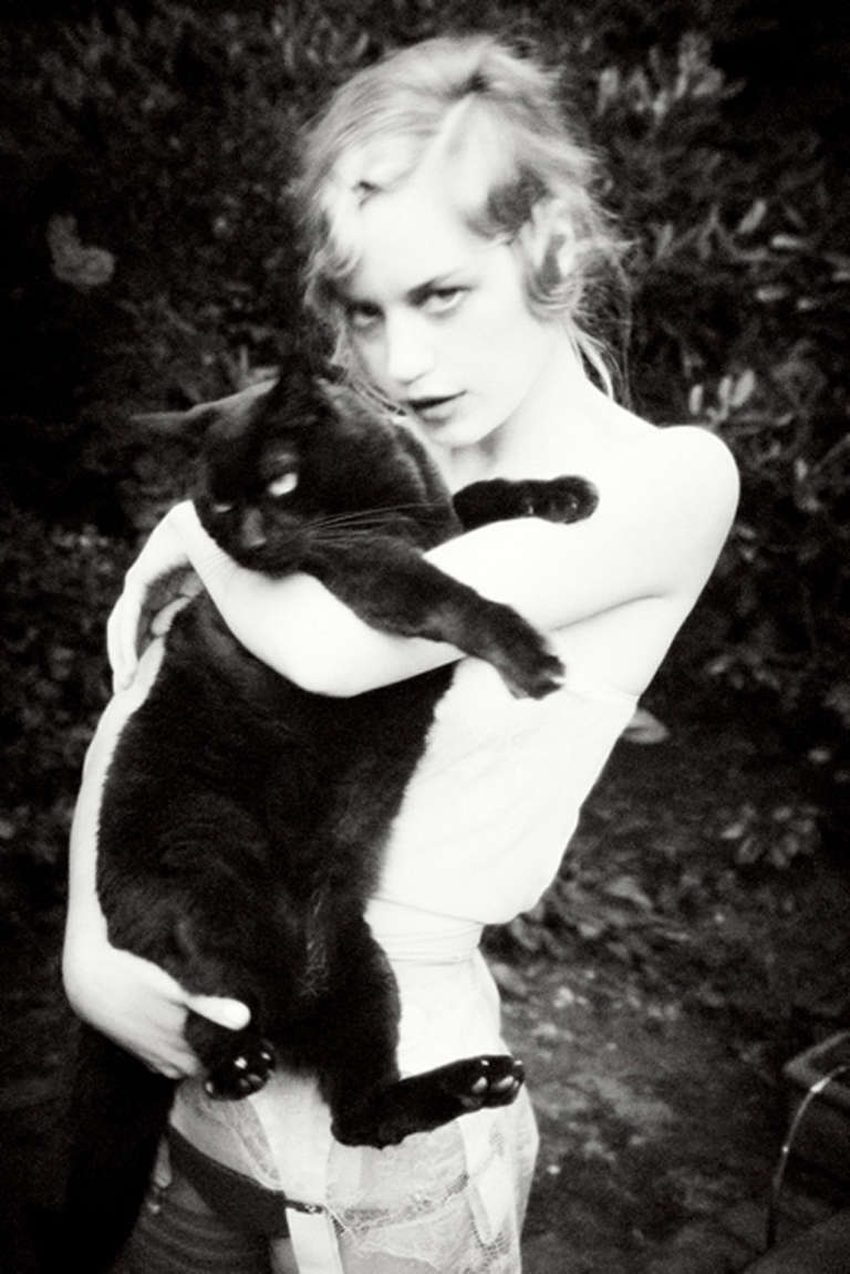 Ellen von Unwerth Black and White Photograph - Meow II