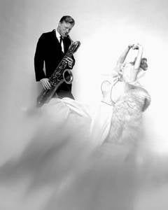 Gerry Mulligan and Monique Chevalier, Vogue, 1962
