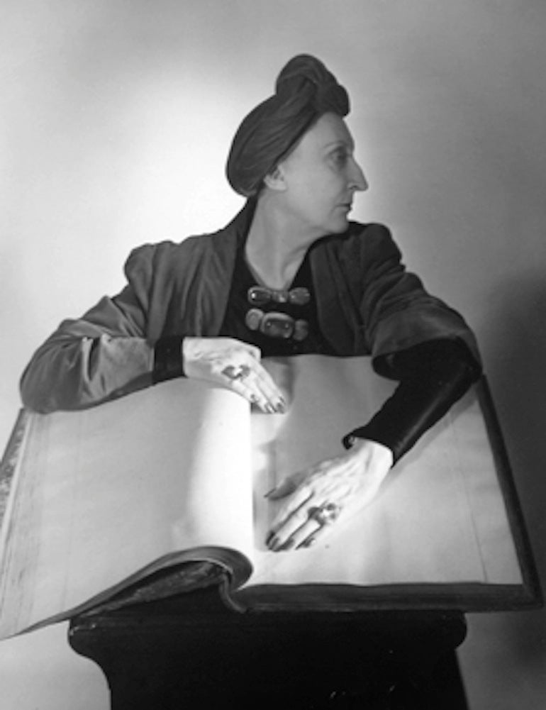 Horst P. Horst Black and White Photograph - Edith Sitwell, New York