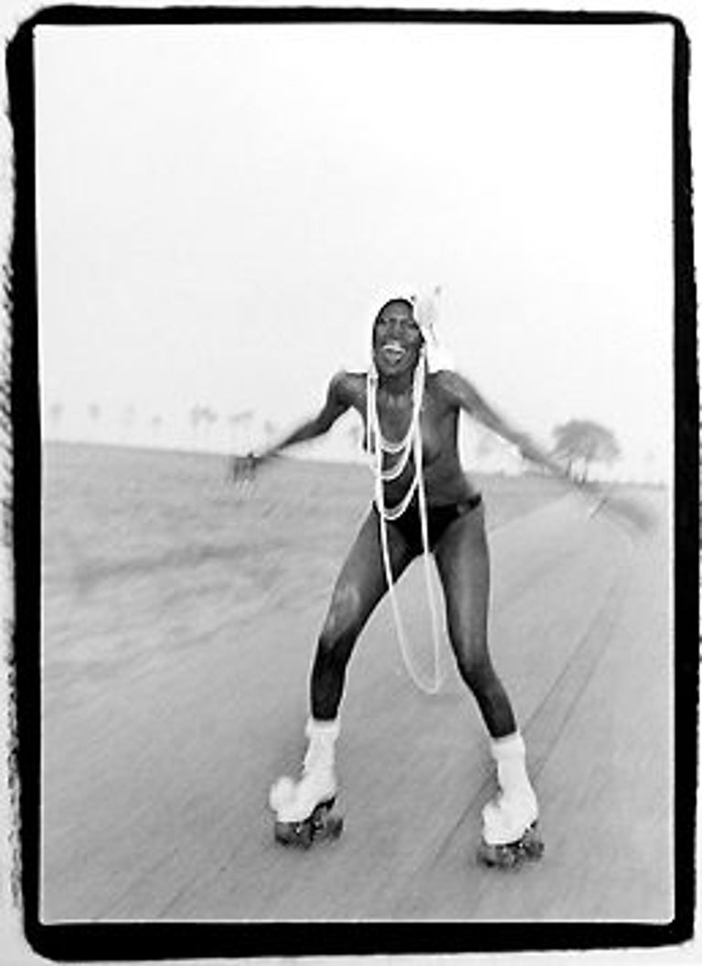 Grace Jones at Compo Beach