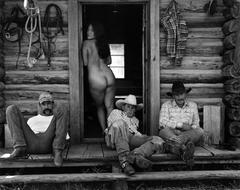 Olga and The Cowboys, Little Bear Ranch, Montana, 1994