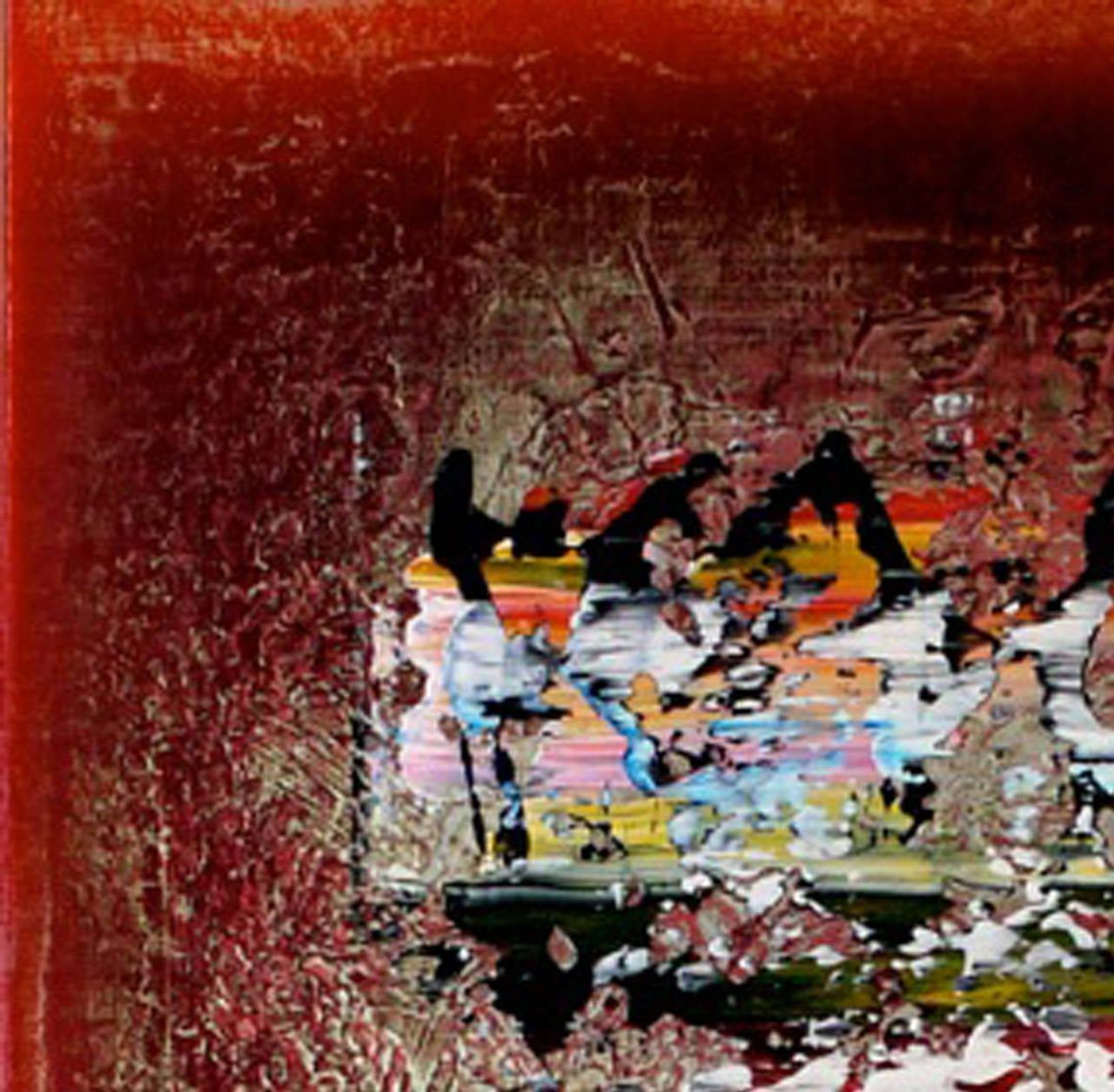 Lumiere - Brown Abstract Painting by Alice Teichert