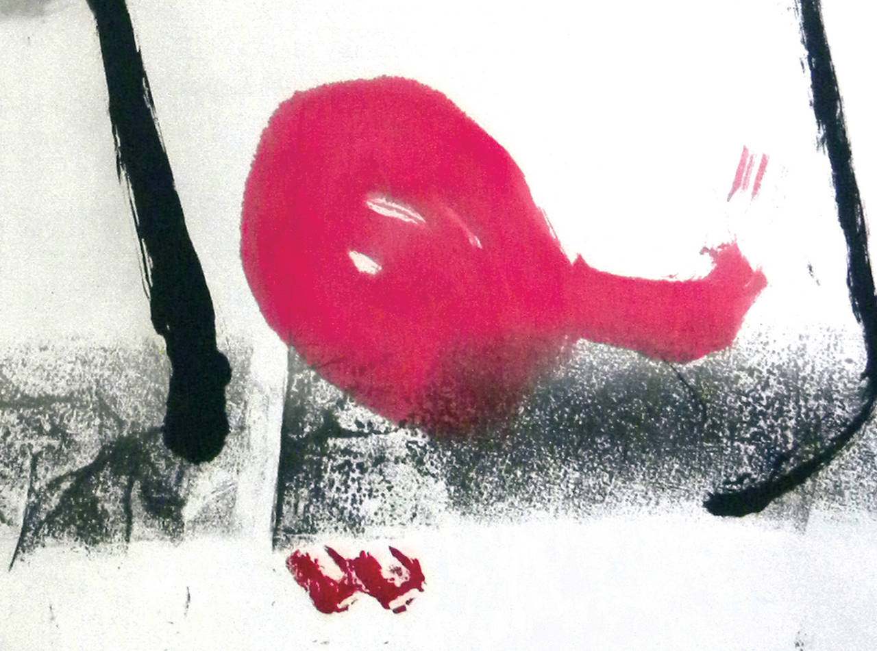 ZL Untitled 8 - Contemporary Painting by Zhu Lan
