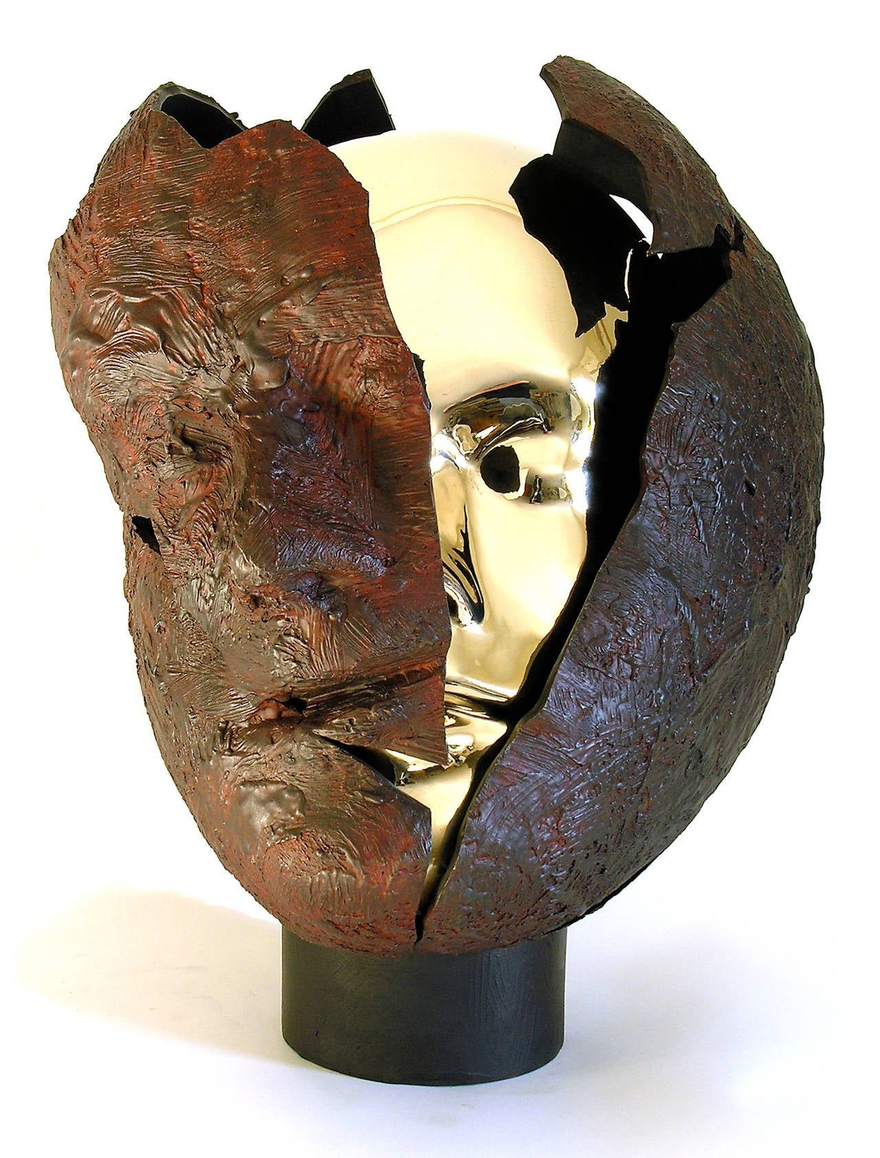 Tabula Rasa - Gold Figurative Sculpture by Dale Dunning