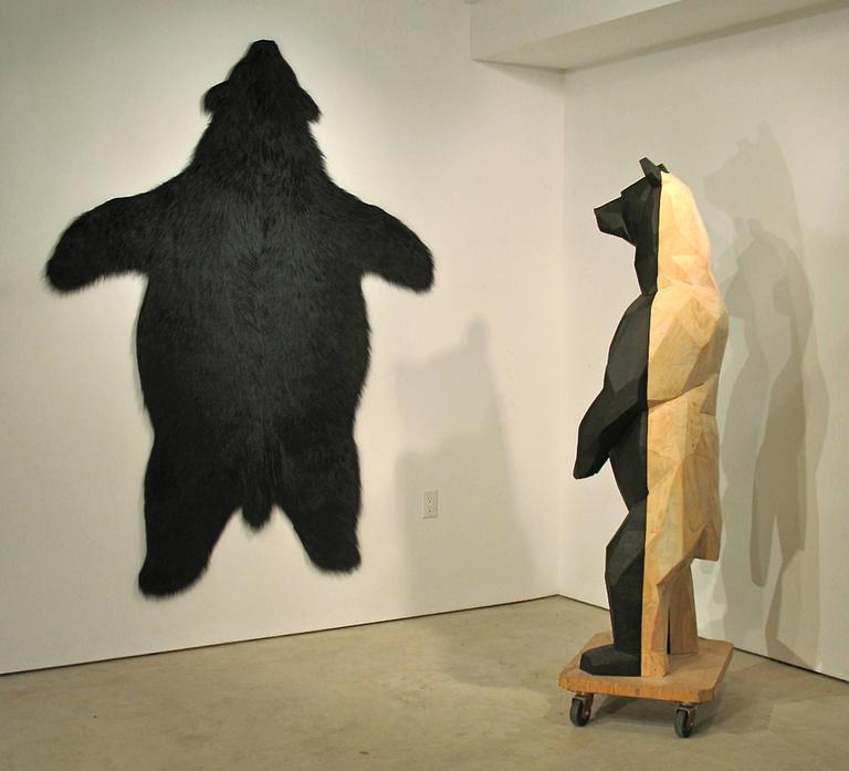miguel angel berlanga vendre la peau de l 39 ours wood sculpture at 1stdibs. Black Bedroom Furniture Sets. Home Design Ideas