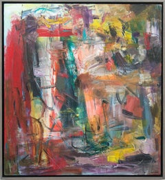 Pacific No 14 - bold, vibrant, colorful and graphic abstract acrylic on canvas