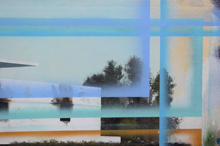 Bauhaus No 2 - Gray Landscape Painting by Peter Hoffer