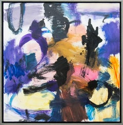 Denouement No 39 - bright, bold, colourful, gestural, abstract, oil on canvas