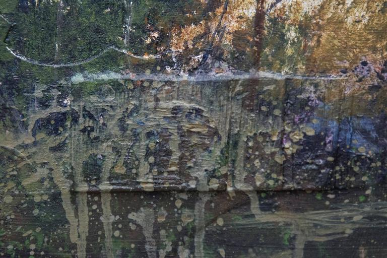 Tree Study at Dusk - landscape, trees, contemporary, acrylic and resin on panel For Sale 2