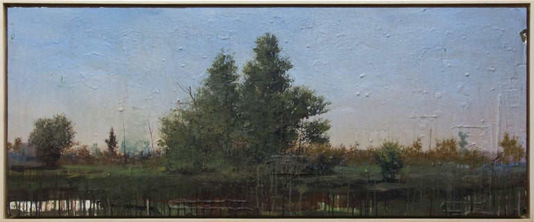 Peter Hoffer Landscape Painting - Tree Study at Dusk - landscape, trees, contemporary, acrylic and resin on panel