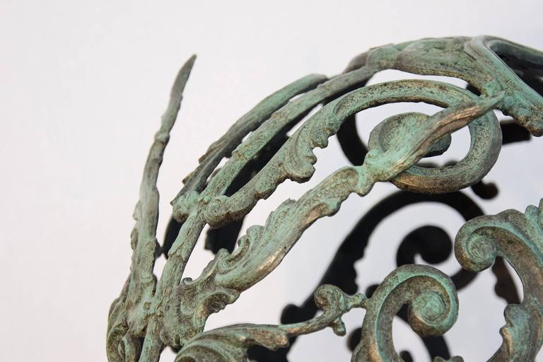 Green Samurai  - Gold Figurative Sculpture by Dale Dunning