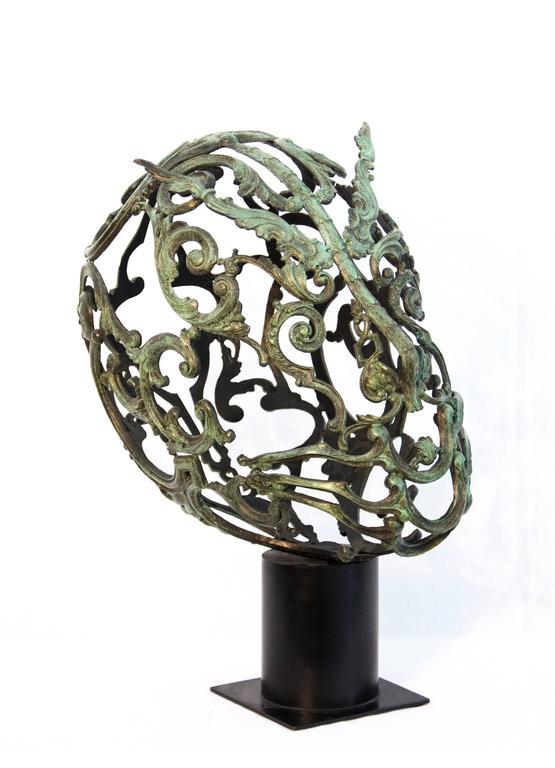 Green Samurai  - Sculpture by Dale Dunning