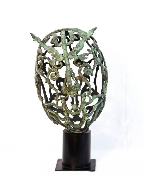 Green Samurai  - Contemporary Sculpture by Dale Dunning