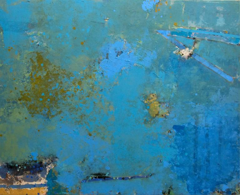 Abstraction in Blue and Burnt Sienna