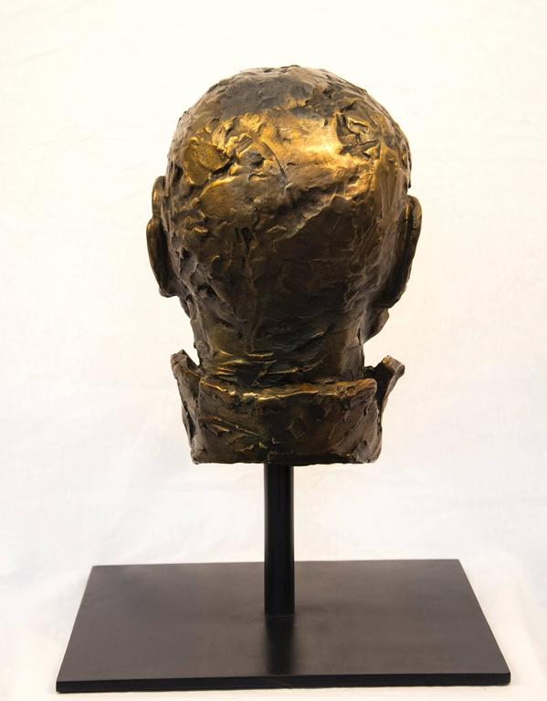 Indelible - small, expressive, figurative, male, bust, bronze, sculpture - Contemporary Sculpture by Sylvain Louis-Seize