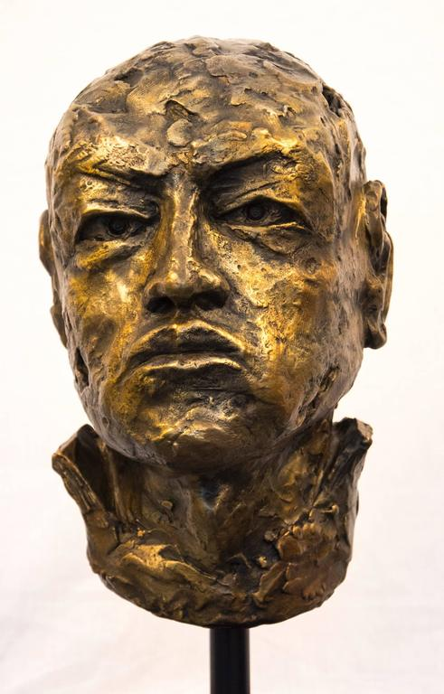 The expression of this bronze figure by Sylvain Louis-Seize, suggests a silent vow to never forget - never forget who he is, and to never forget the person who has taken action against him. This work is editioned 1 of 8.  Louis-Seize is a Canadian