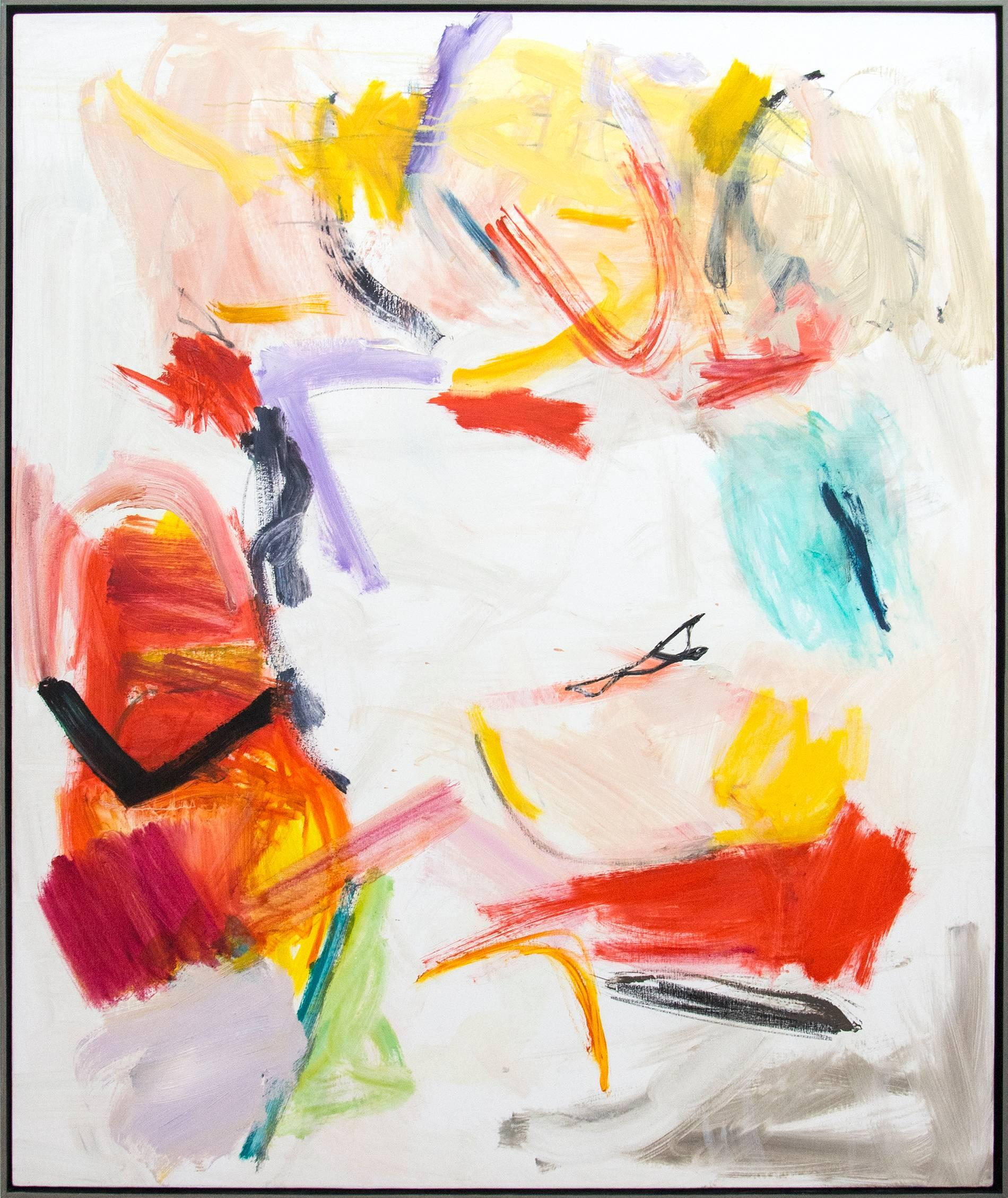 Kairoi No 43 - large, vibrant, colourful, gestural abstract, oil on canvas
