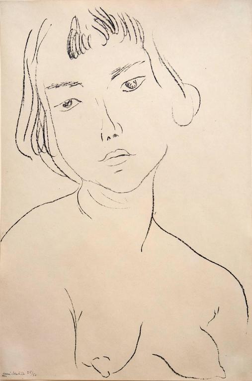 Henri Matisse - Visage légèrement penché vers la gauche 1