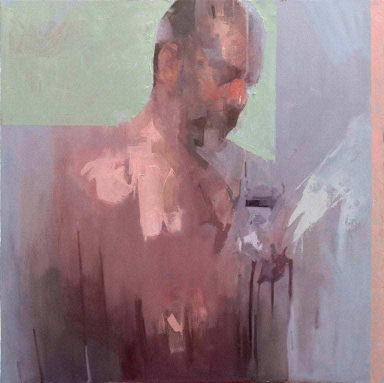 Daniel Hughes Figurative Painting - Self Portrait No 2