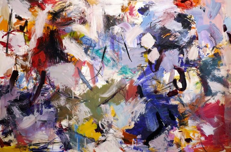 Scott Pattinson Abstract Painting - Ouvert No 11 - large, vibrant, colourful, gestural abstract, oil on canvas