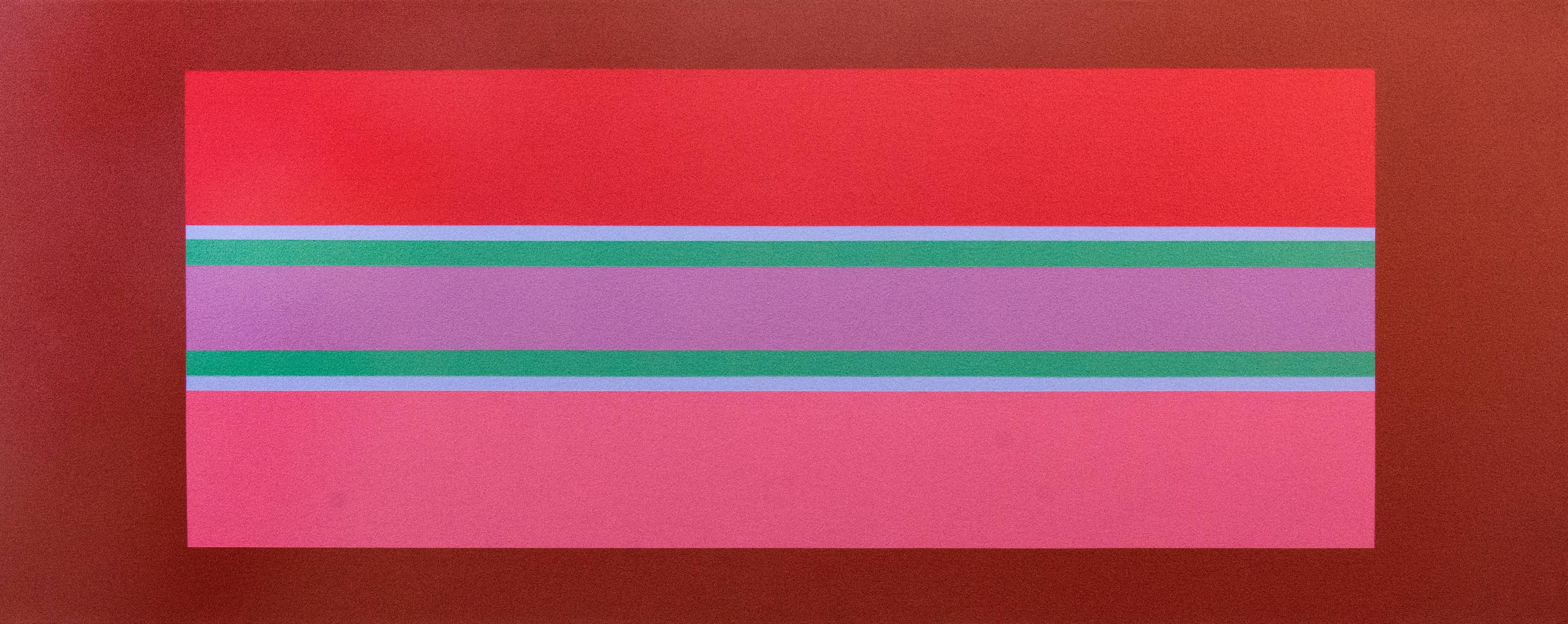 Oasis 4/4 - vivid, colourful geometric abstraction, modernist, acrylic on canvas
