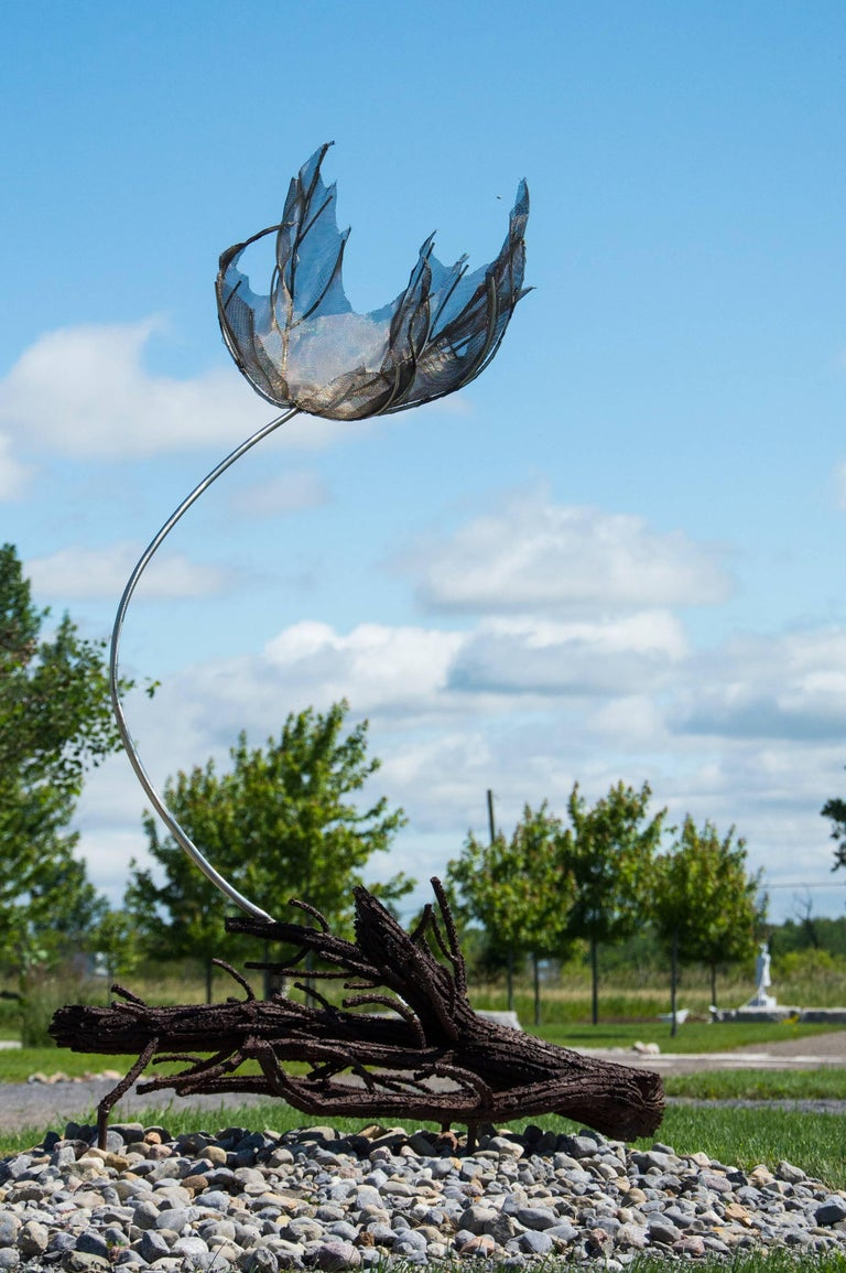 Sacrifice - Wind Swept Maple Leaf - Contemporary Sculpture by Floyd Elzinga