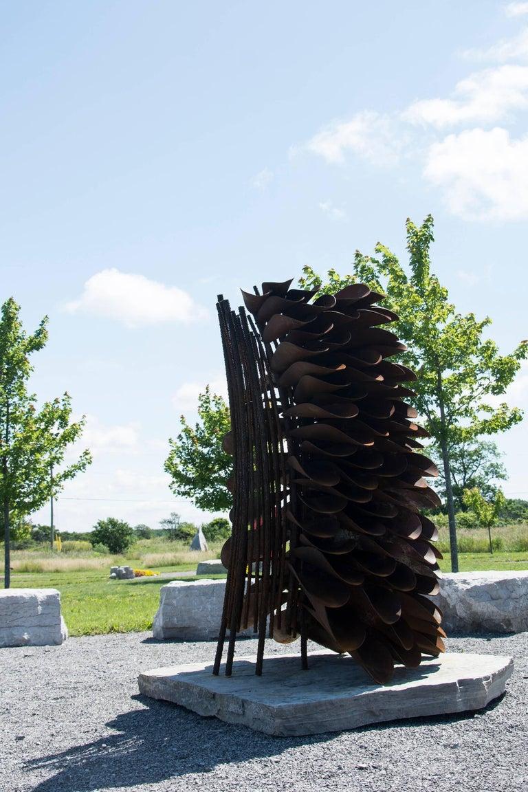 Segment - Fire Cone - Contemporary Sculpture by Floyd Elzinga