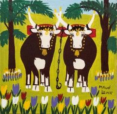 Maud Lewis - Springtime Oxen