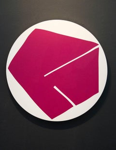 Round Magenta with Two Lines
