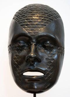 Tattoo - Bronze Life Size Mask Sculpture