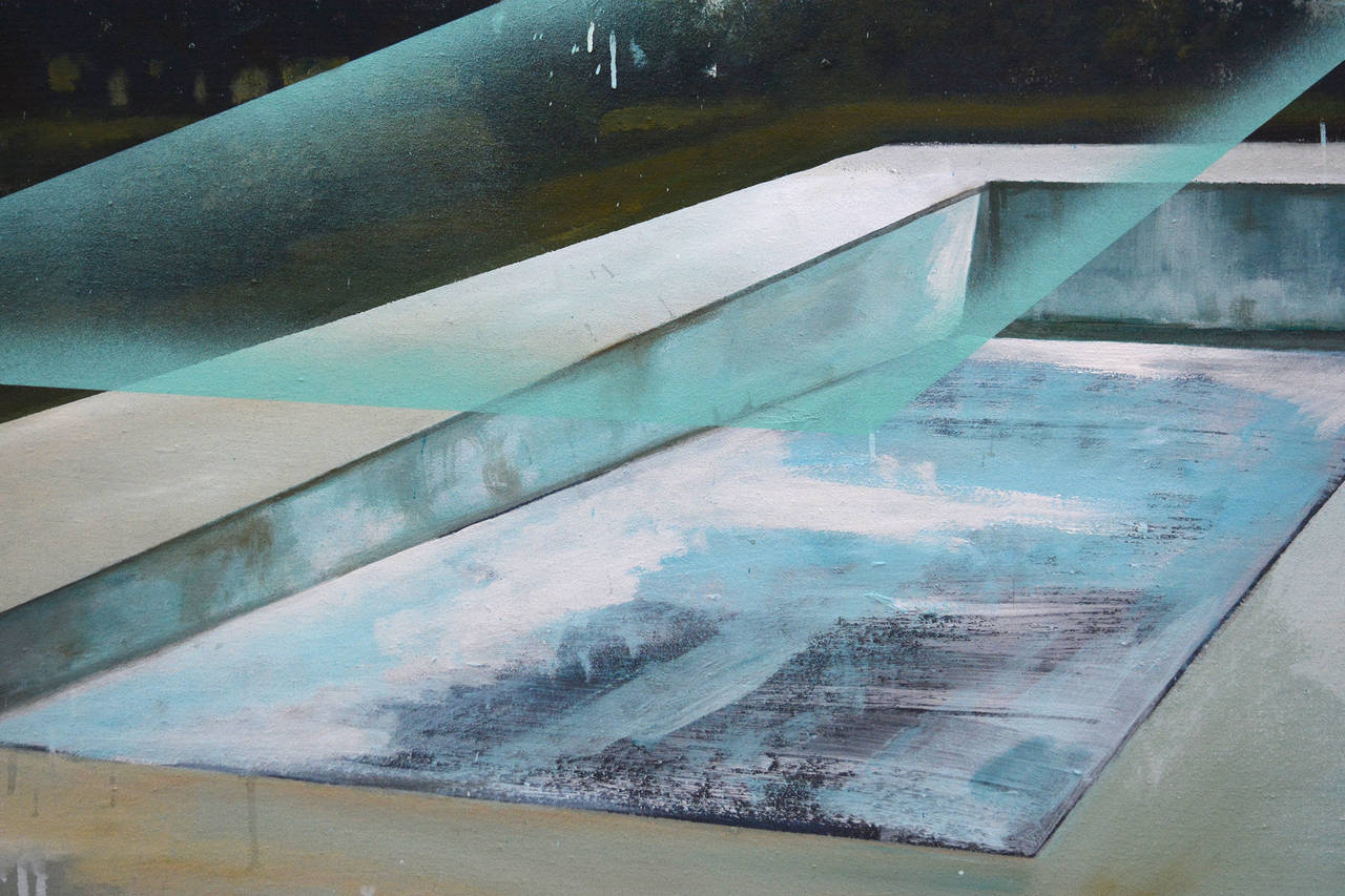 Piscine - Contemporary Painting by Peter Hoffer