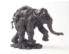 Elephant on the Move - Untitled No 38 2/8 - animal bronze statuette
