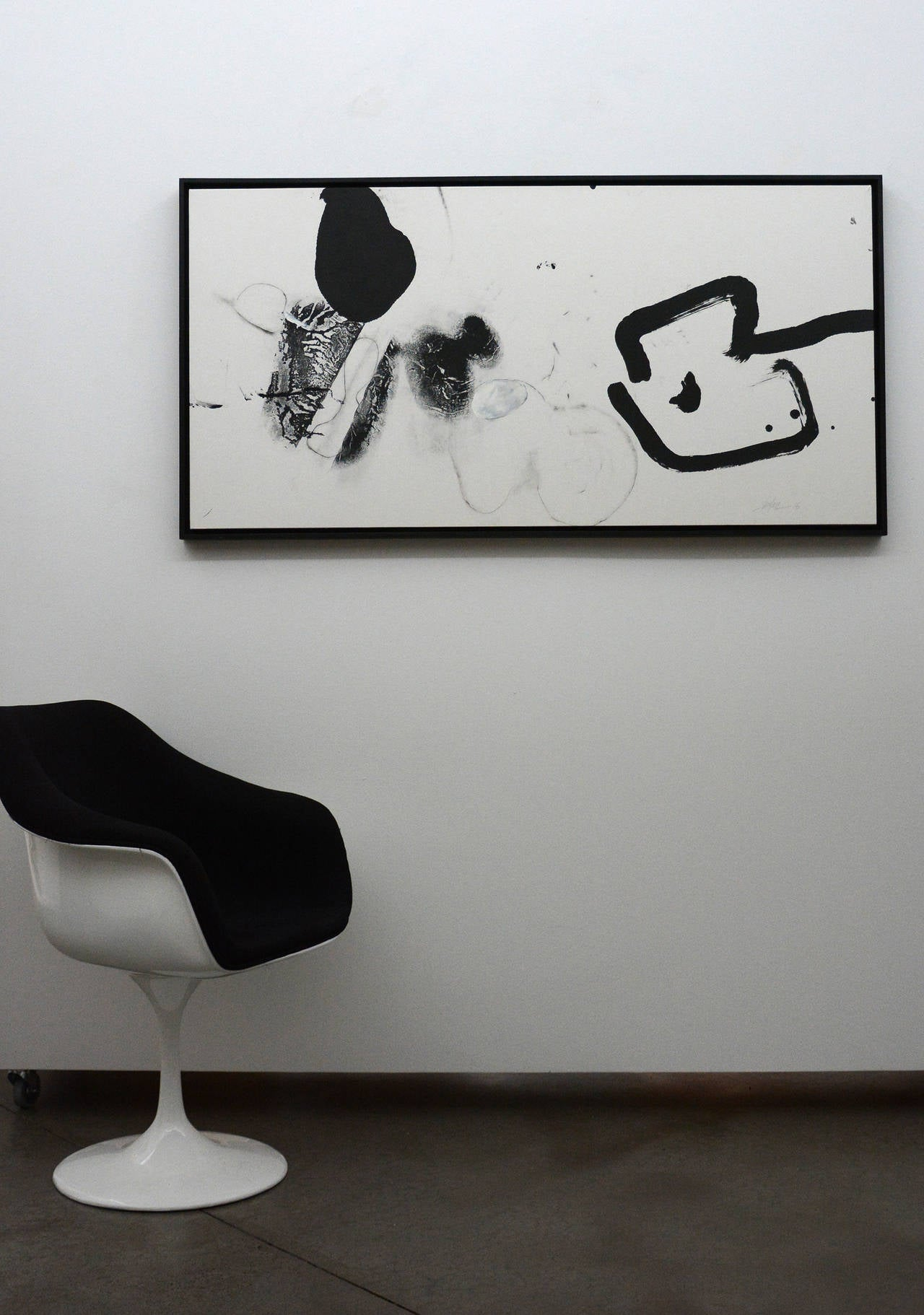 Untitled ( no. 2) - Gray Abstract Painting by Zhu Lan
