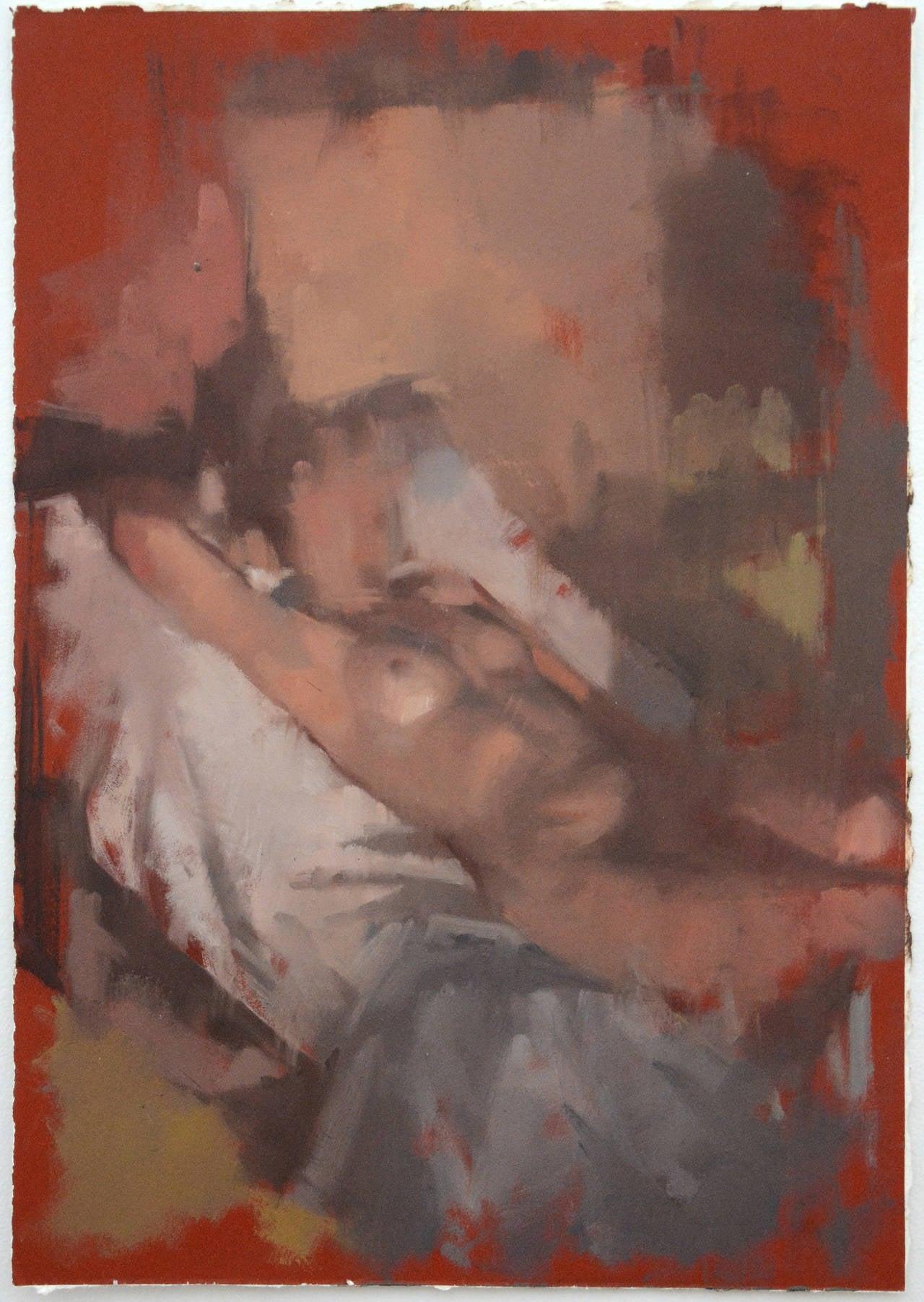 Daniel Hughes Figurative Painting - Reclining Nude