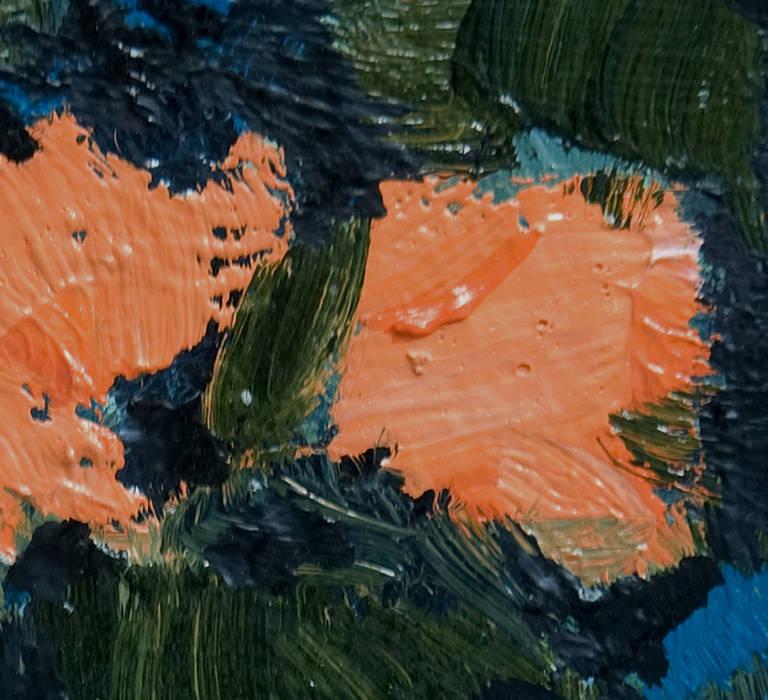 jennifer hornyak fleurs orange et vert painting at 1stdibs. Black Bedroom Furniture Sets. Home Design Ideas