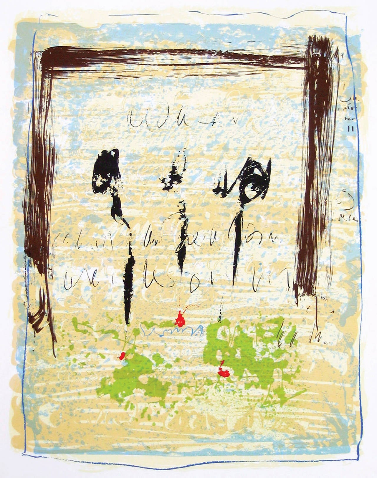 Alice Teichert Abstract Drawing - The Text Is Still Unwritten - Tango