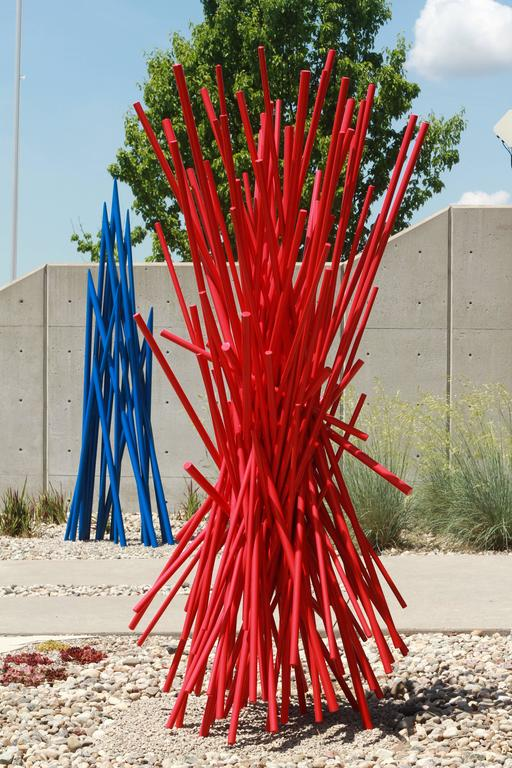 Entangled Red - Sculpture by Shayne Dark